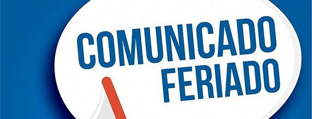 COMUNICADO PONTO FACULTATIVO E FERIADO